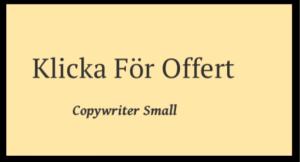 Företagsblogg hjälp av en copywriter